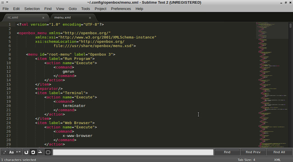 Sublime als Standard Text Editor